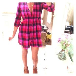 PINK Flannel Dress